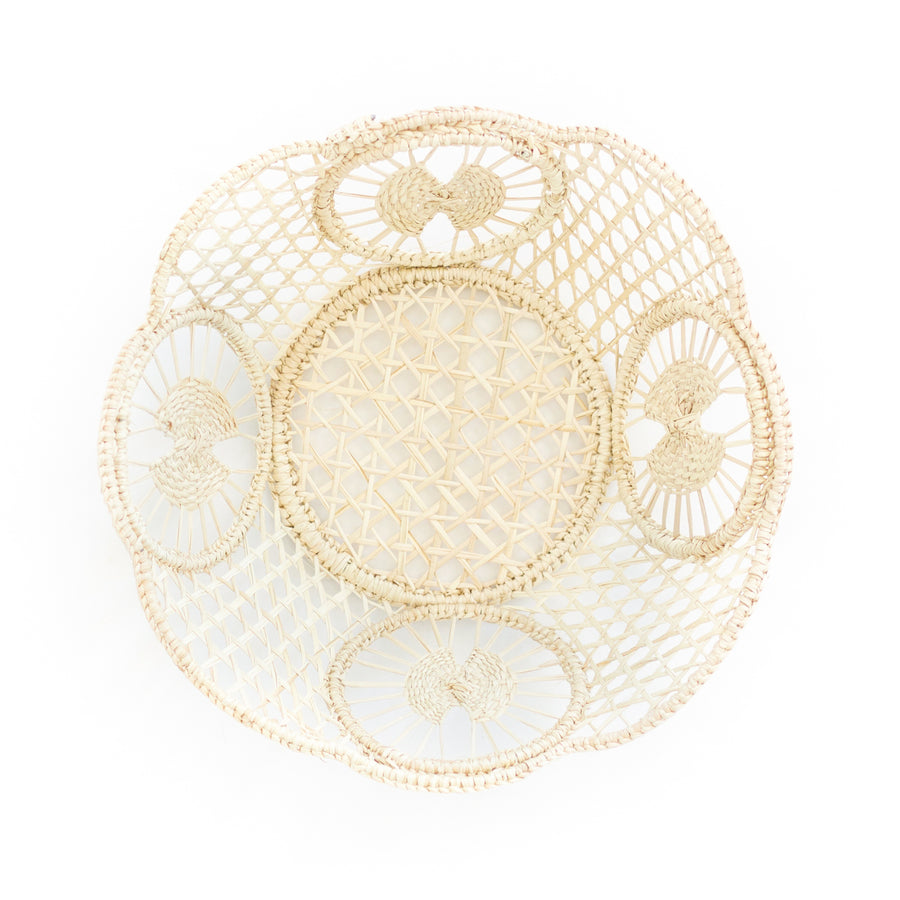 Palm Woven Basket, Natural