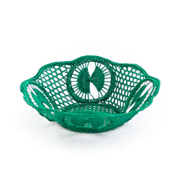 Palm Woven Basket, Green