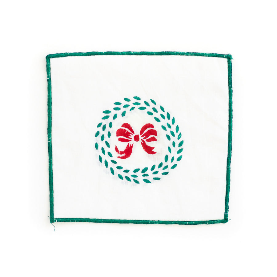Christmas Wreath Cocktail Napkin
