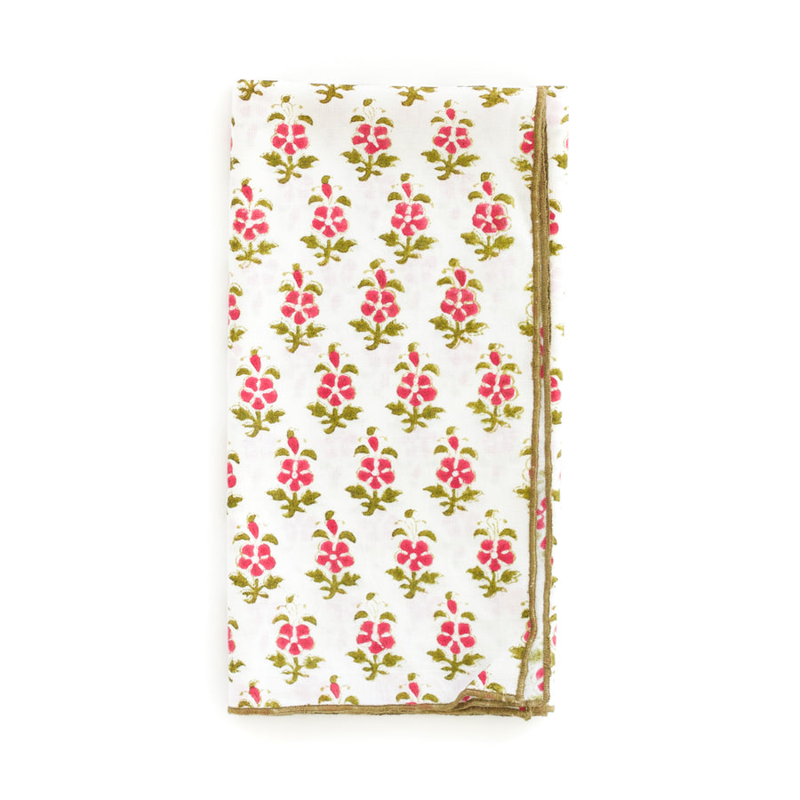 Lotus Napkin, Rose x Olive
