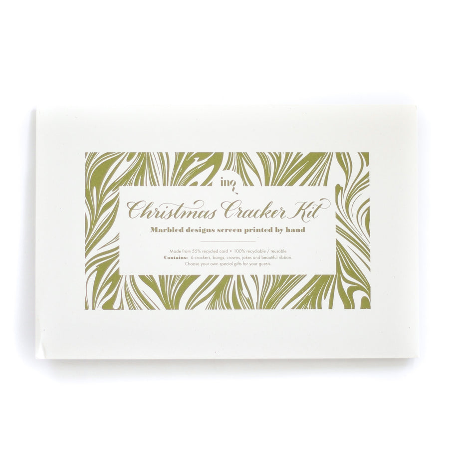 Christmas Marbled Cracker Kit, Green x Pink