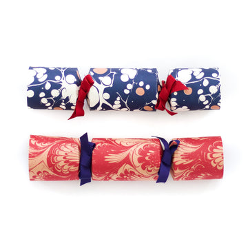 Christmas Marbled Cracker Kit, Red x Blue