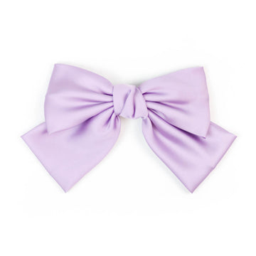 Silk Statement Hair Bow, Lavender