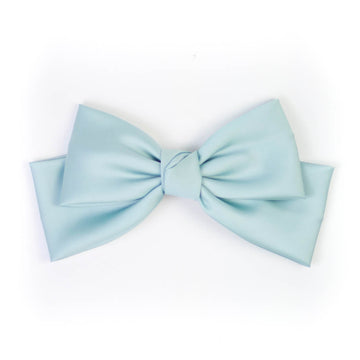 Silk Statement Hair Bow, Blue