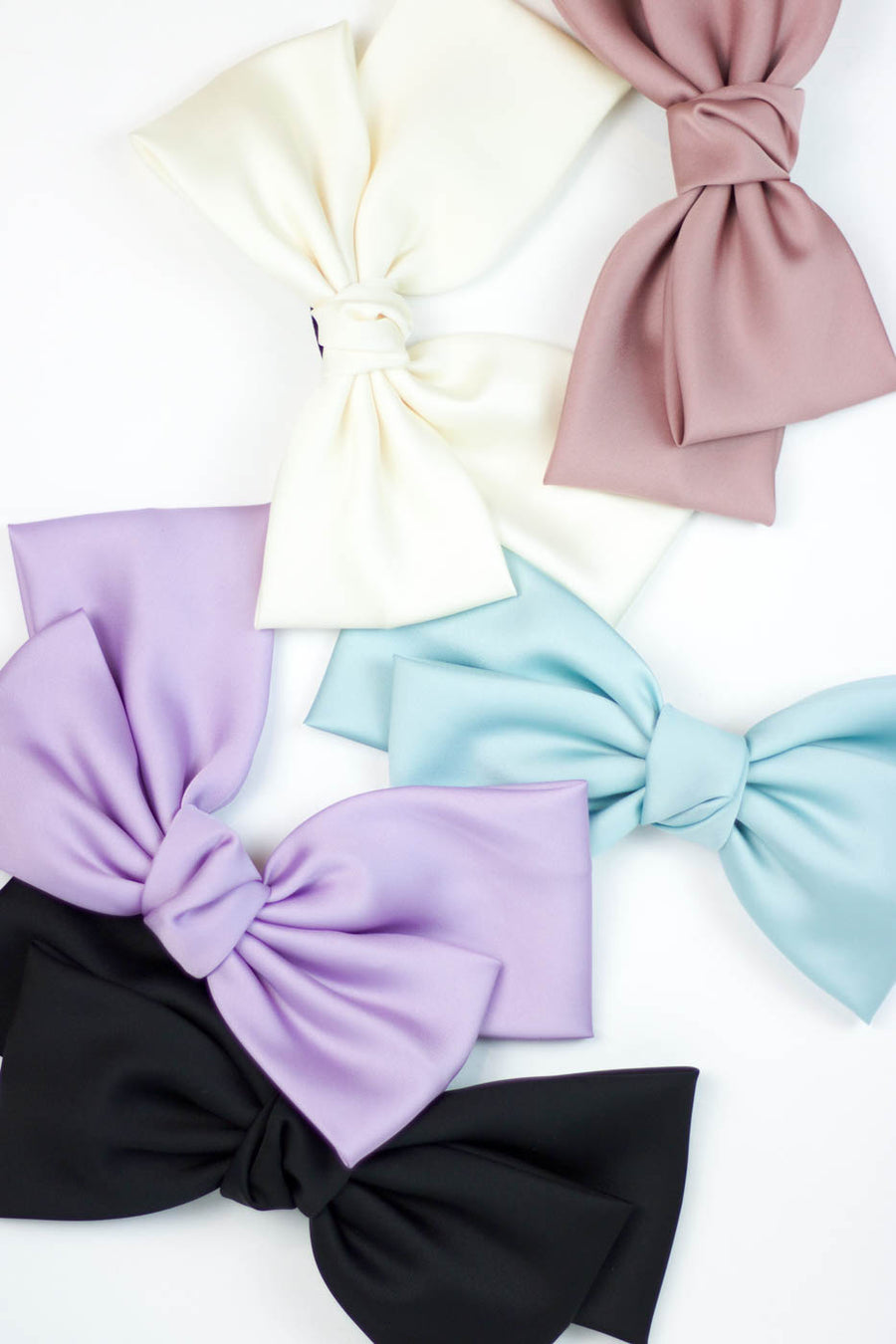 Silk Statement Hair Bow, Pink