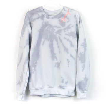 Tie-Dye Adult Sweatshirt, Grey x White