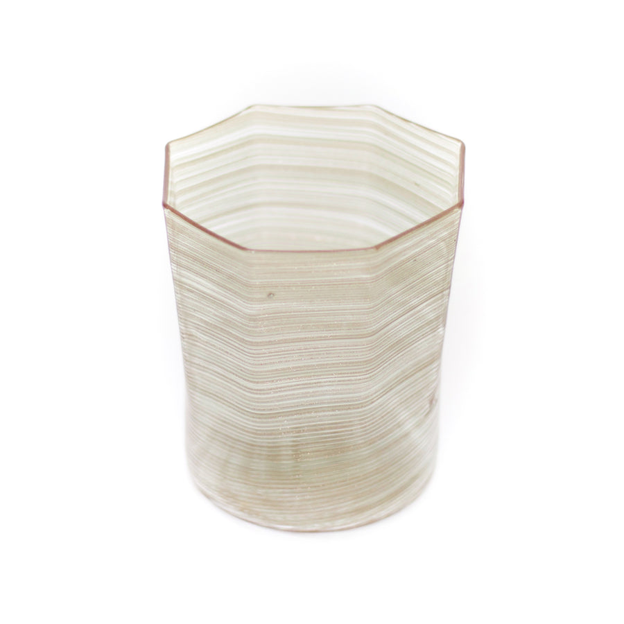 Octagonal Twist Glass, Bronze Metallic