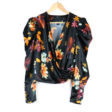 Obsessions Top, Black Floral