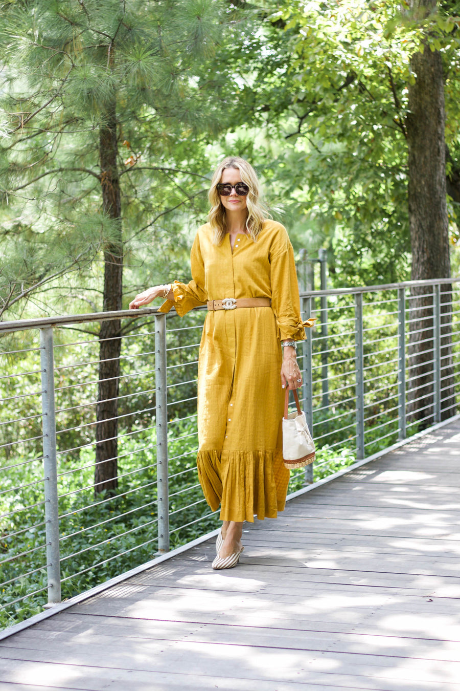 Madrid Midi Dress, Saffron