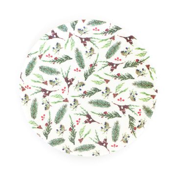 Melamine Snack Plate, Winter Berries