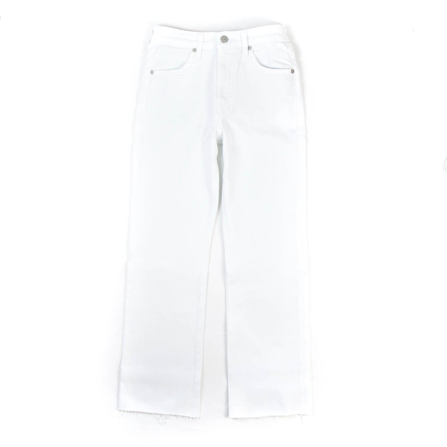 Wes High Rise Crop Jean, White