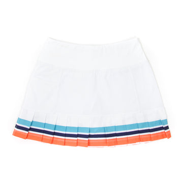 Court Skort, White Multi