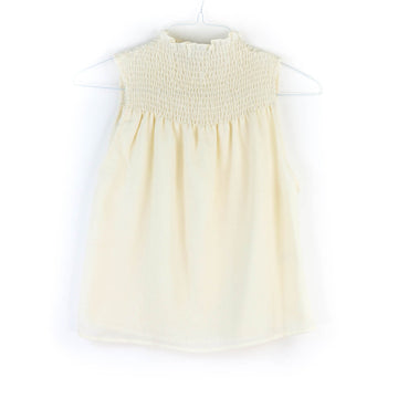 Nonna Smocked Blouse, Cream