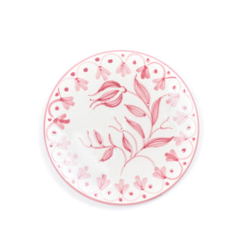 Tulip Bread Plate, Rose Pink