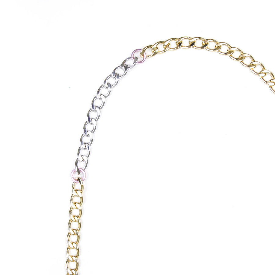 Disco Necklace, Silver x Gold