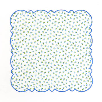 Scalloped Dot Napkin, Blue Rose