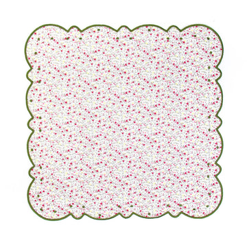 Scalloped Dot Napkin, Pink x Green Liberty