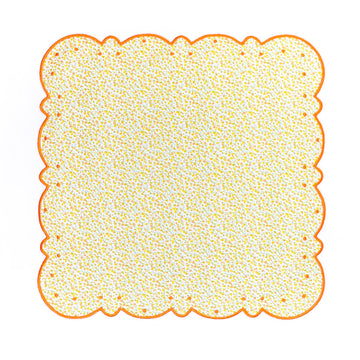 Scalloped Dot Napkin, Yellow X Orange Liberty