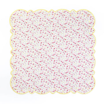 Scalloped Dot Napkin, Pink x Yellow Liberty