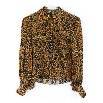Campbell Silk Blouse, Leopard