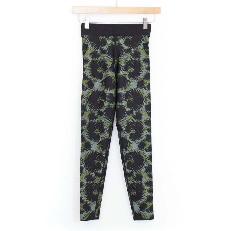 Leopard Ploom Legging, Olive