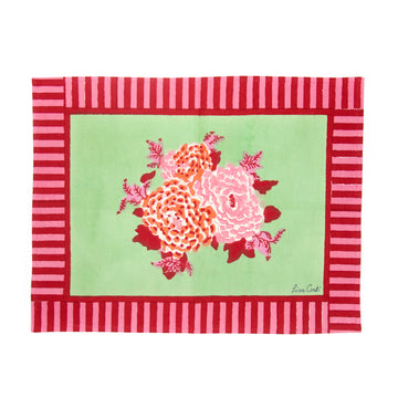 Corolla Green and Pink Placemat
