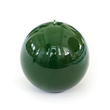 Lacquer Sphere Candle, Olive Green