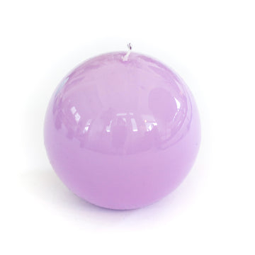Lacquer Sphere Candle, Lilac
