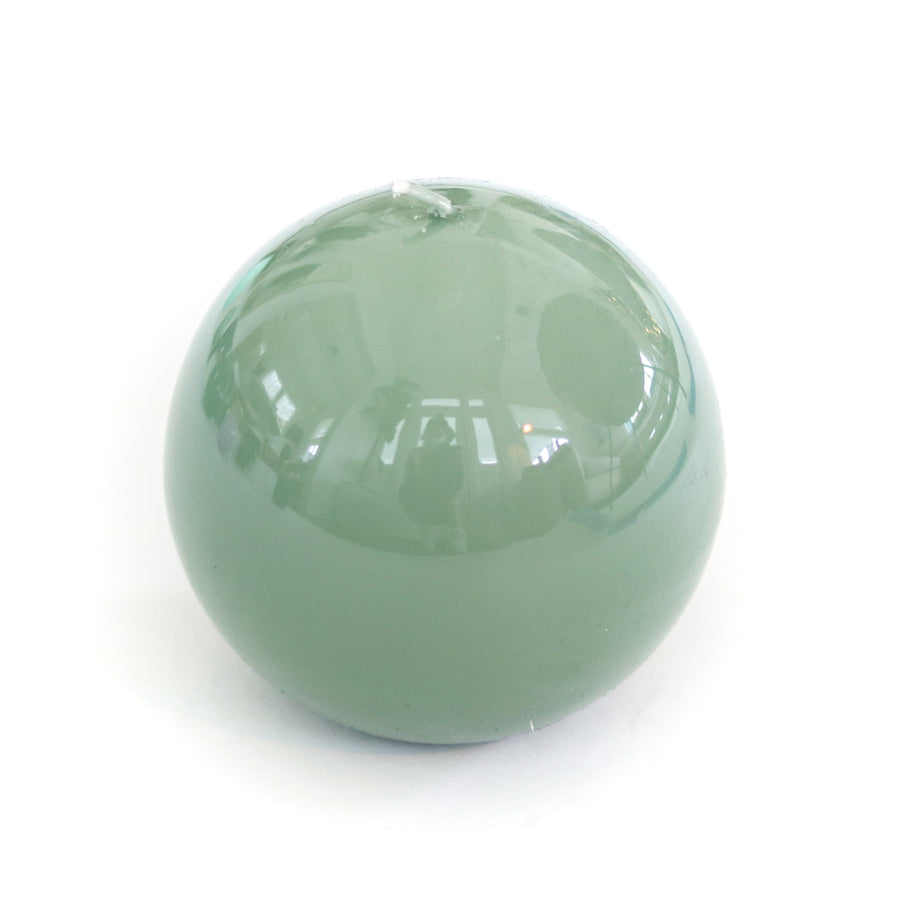 Lacquer Sphere Candle, Jade Green
