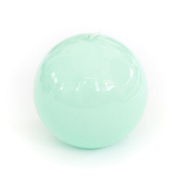 Lacquer Sphere Candle, Water Green