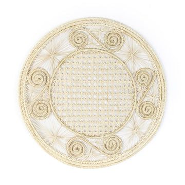 Woven Swirl Palm Placemat, Natural