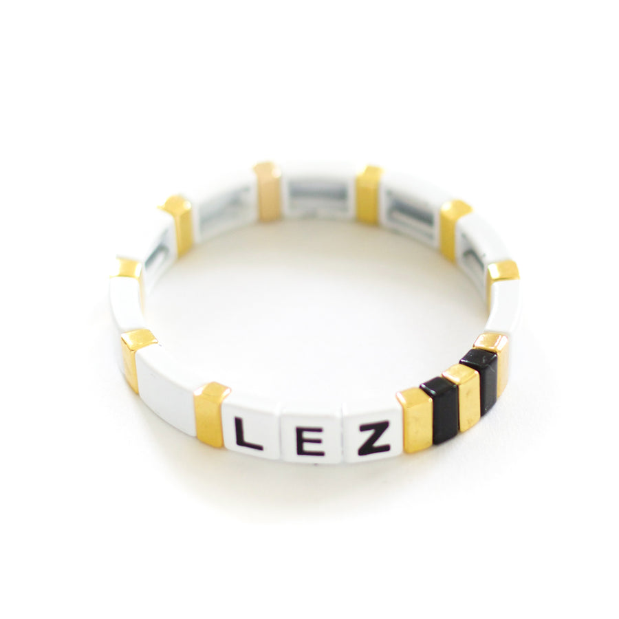 Personalized Custom Saying Tile Enamel Bracelet