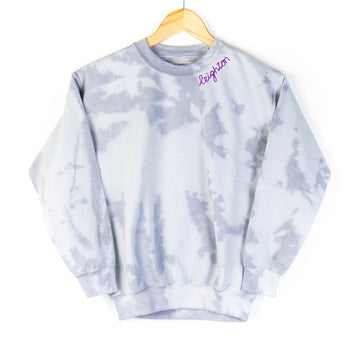 Tie-Dye Kids Sweatshirt, Grey x White