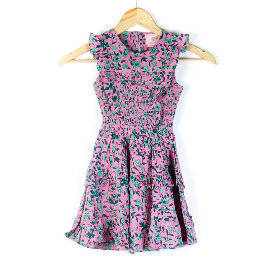 Little Girl's Chota Iris Dress, Sachet Pink