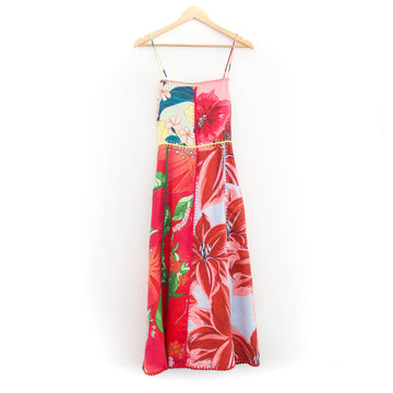 Mixed Garden Linen Midi Dress, Multi