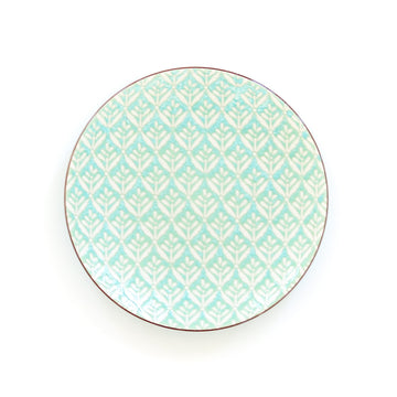Patterned Salad Plate, Light Blue