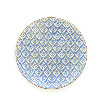 Patterned Salad Plate, Dark Blue