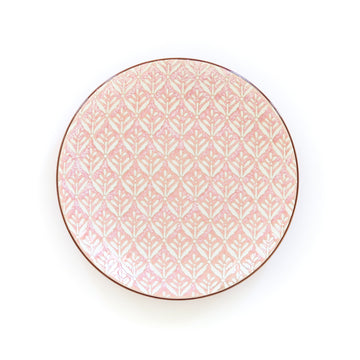 Patterned Salad Plate, Pink