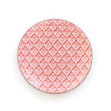 Patterned Salad Plate, Red
