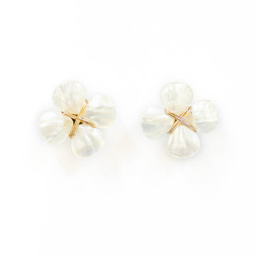 Mother of Pearl Floral Stud, Petite