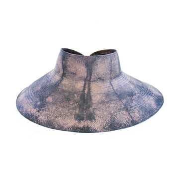 Heather Tie-Dye Visor, Blue Violet