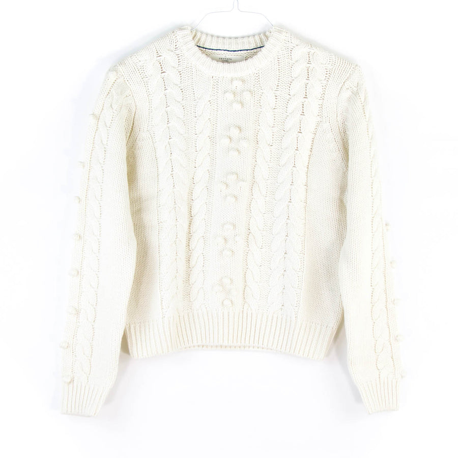 London Textured Sweater, Antique White