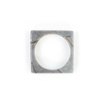 Marble Napkin Ring, Grey