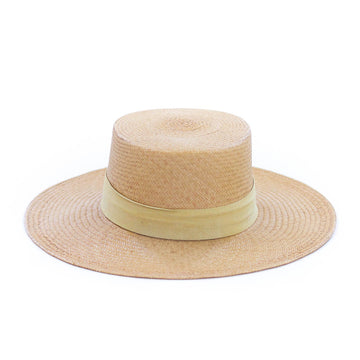 Orchid Straw Hat, Tan