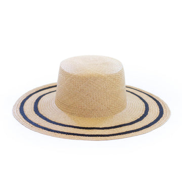Daisy Hat, Natural x Black
