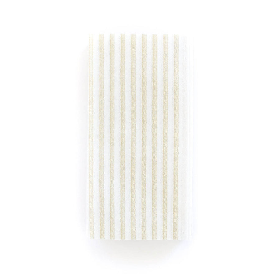 Stripe Guest Towels, Khaki x White