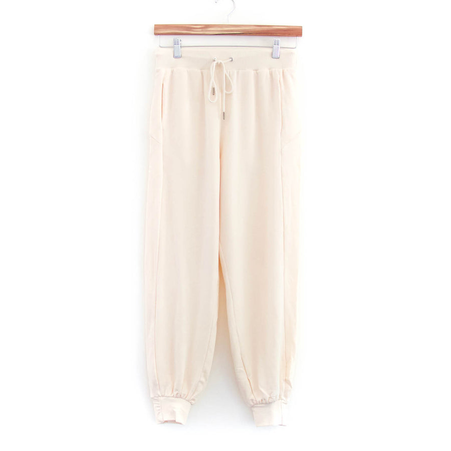 Soothe Shirred Cuff Jogger, Cream