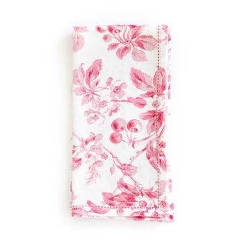 Cherry Blossom Napkin, Red
