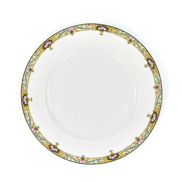Limoges Dinner Plate, Gold x Turquoise
