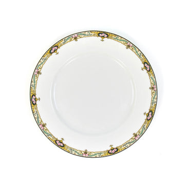 Limoges Salad Plate, Gold x Turquoise